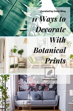 Curated by Color's picks on how to incorporate floral prints, botanical prints, and leaf prints into your home. Fern Wallpaper, Print Wallpaper, Wallpaper Ideas, Botanical Decor, Botanical Prints, Bold Prints, Floral Prints, Leaf Prints, Van Gogh Almond Blossom