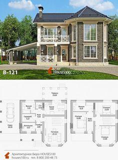 2 Storey House Design, Duplex House Design, Dream Home Design, Home Design Plans, Modern House Design, Indian House Plans, My House Plans, Modern House Plans, Small House Plans