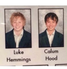 Baby Luke & Calum in yearbook!!