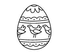 Dibujo de Huevo de Pascua con pájaros para colorear Easter Pictures, Embroidery, Halloween, Lily, Fictional Characters, Art, Quote Coloring Pages, Easter Drawings, Everything