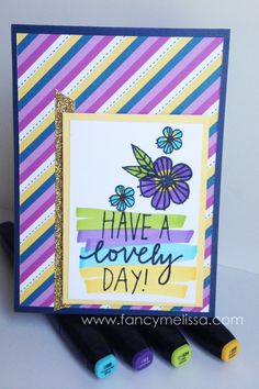 Have a Lovely Day Card www.fancymelissa.com #confettiwishes #ctmh #alcoholmarkers #shinhan