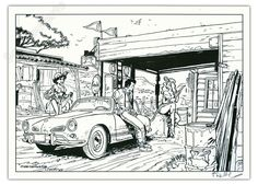 Ligne Claire, Ex Libris, Illustrations, Comic Strips, Pin Up, Drawings, Google, Car, Drawing Cartoons