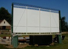 Build a PVC back yard movie screen for LCD projector.