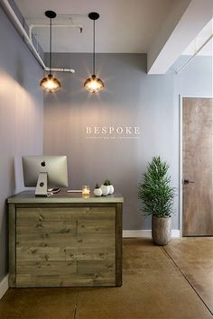 Awesome Front Office Idea! #office #design #moderndesign http://www.ironageoffice.com/