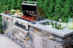 Ways To Choose New Cooking Area Countertops When Kitchen Renovation – Outdoor Kitchen Designs Modern Outdoor Kitchen, Outdoor Kitchen Countertops, Backyard Kitchen, Diy Kitchen, Outdoor Living, Kitchen Decor, Outdoor Kitchens, Kitchen Ideas, Modern Backyard