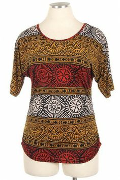 PLUS PRINTED FASHION TOP #salediem #plussize #celebrate #holiday