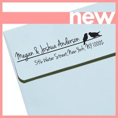 CUSTOM ADDRESS STAMP Eco Friendly & self inking by savethedate