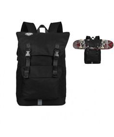2f6b89bc005e Fashion Sport Backpack Skateboard Backpack Holder Large Capacity Skateboard  Not Included (Black) - Black - C1186R7676T