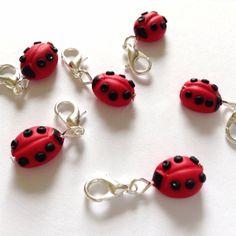 Crochet stitch markers ladybird stitch by AbsoKnittingLutely, £8.00