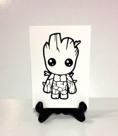 Baby Groot Vinyl Decal, Guardians of the Galaxy Fan Art Sticker, Groot Bumper Sticker, Baby Groot Wall Art, Baby Groot Laptop Decal by TipperaryLane on Etsy https://www.etsy.com/listing/293159075/baby-groot-vinyl-decal-guardians-of-the