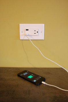 Update the outlet near your entrance table with USB functionality! Perfect for a techy home that can never have too many outlets.