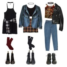 """""""mon, tues, wed"""" by grimess ❤ liked on Polyvore featuring Dr. Martens, Miu Miu, Yves Saint Laurent, Topshop, Gathering Eye, Brooks Brothers and Abandon Ship"""