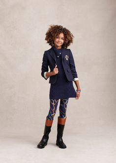 Fun, riding-inspired motifs add a festive flair to printed leggings and cute quilted jackets
