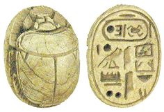 Ancient Egyptian Artifacts | Category: Authentic Ancient Egyptian artifacts Carved Limestone Scarab ...