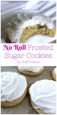 Our No Roll Frosted Sugar Cookies are not too sweet, easy to make and oh so dreamy! They are moist, soft and fluffy, and the buttery frosting is simply scrumptious!