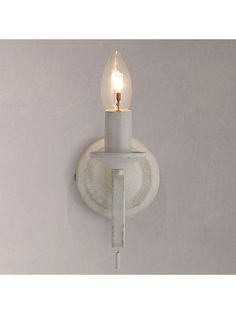 Buy John Lewis & Partners Carlita 1 Light Wall Light, White from our Wall Lighting range at John Lewis & Partners. White Paints, John Lewis, Sconces, Wall Lights, Traditional, Elegant, Lighting, Luxury, Beautiful