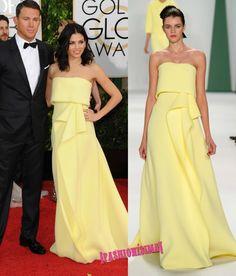 1001 vestidos amarillos strapless en la alfombra roja de los Globos de Oro y after parties #GoldenGlobes