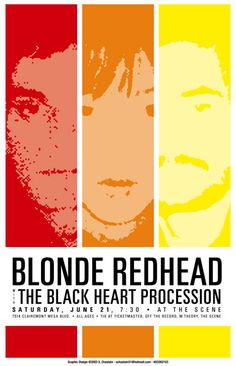 GigPosters.com - Blonde Redhead - Black Heart Procession