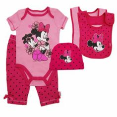 Disney Mickey Mouse & Friends Minnie Mouse Dotted Bodysuit Set - Baby
