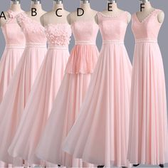 Hot Sales Bridesmaid Dress,Long Bridesmaid Dress ,Pink Bridesmaid Dress,Pretty Bridesmaid Dress,335