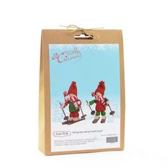 Christmas Novelty DIY Craft Kit Create a skiing boy and girl with this DIY kit. Have fun creating Christmas decorations to hang around your home or to give as a special h Craft Kits, Diy Kits, Craft Projects, Fun Crafts, Crafts For Kids, Christmas Crafts, Christmas Decorations, Skiers, Xmas Gifts