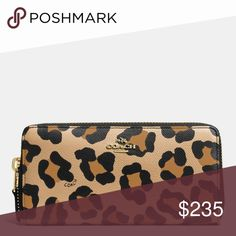 Coach Leopard Accordion Zip Wallet **Details and pics coming soon** Coach Bags Wallets