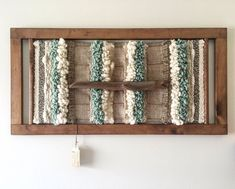 MADE TO ORDER. Made in Chile with natural wool and driftwood from Lago Puyehue. It takes me 3 weeks to do it and 3 more weeks the delivery. Weaving Wall Hanging, Weaving Art, Wall Hangings, Wall Art Decor, Room Decor, Creative Textiles, Frame Crafts, White Paneling, Boho Diy