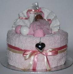 Celebration towel cakes. Gift ideas for women from Towel Cake Gifts.