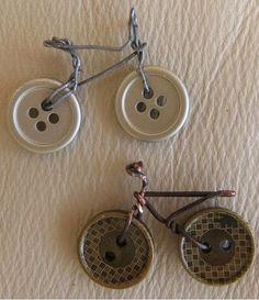 bicicletas realizadas con botones ~ cositasconmesh