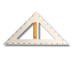 Zeichendreieck, 90°,45°,45°, Kunststoff weiß, Hypotenuse 50 cm