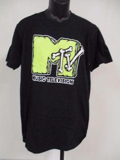 889cbf96fe90b8 New MTV Music Television Mens Adult Size L Large Vintage 80s 90s Shirt