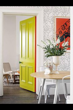 This photo from Living Etc Magazine UK, defines the way how modern art-deco design can blend well bright colours.