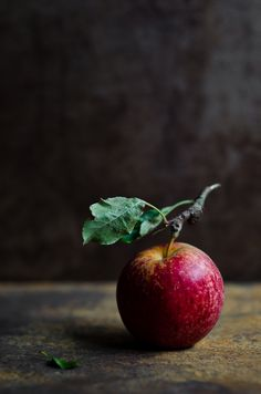 There is something so beautiful about and apple with it's stalk on #natural