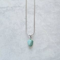Turquoise necklace. December birthstone. Small turquoise pendant. Tiny Necklace. real turquoise, gemstone necklace, healing crystal necklace, Tiny pendant, small necklace, simple necklace,Silver and turquoise, silver turquoise necklace,Nugget necklace, teardrop necklace, raw stone necklace, rock crystal necklace, pale blue necklace, Layering necklace, drop necklace Tiny Necklace, Simple Necklace, Teardrop Necklace, Blue Necklace, Gemstone Necklace, Crystal Necklace, Turquoise Necklace, Turquoise Pendant, Turquoise Stone