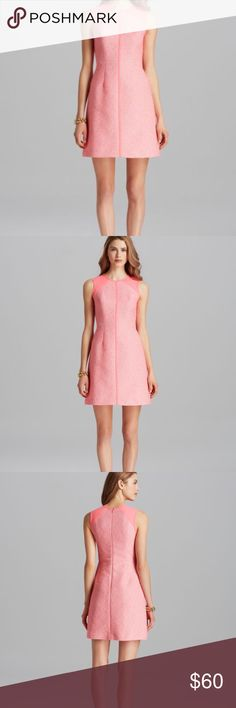 Shoshanna Hot Pink Penelope Dress This is the perfect dress for these warm fall days. Hot pink trim and accents make you stand out. There is a tan and neon pink tweed front. The dress is in excellent condition and only worn a few times. Make it a bundle with my hot pink Kate Spade pink dress. Shoshanna Dresses