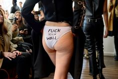 Mexican-born designer has very strong message for Donald Trump at fashion week