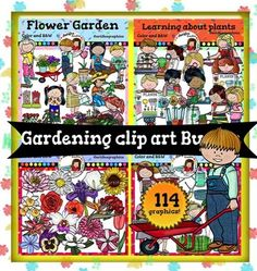 This bundle includes 117 images!!!The Following Included Sets Are Also Sold Seperately:Gardening clip art Bundle includes these 4 packs:  Flower Garden Clip Art set1 Flower Garden Clip Art set2  Flowers clip art  Learning About Plants If you have purchased one or more of these sets, PLEASE don't purchase the bundle.