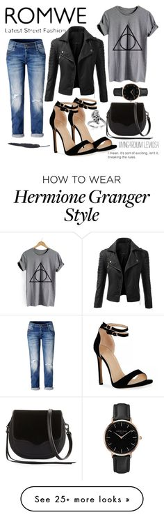 """""""ROMWE. Casual Fan Wear"""" by arsty7800 on Polyvore featuring Doublju, Rebecca Minkoff, Topshop, Journee Collection, harrypotter and romwe"""