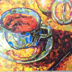 Torn Paper Collage From Recent Classroom Unit #coffee, #drinks, #pinsland, https://apps.facebook.com/yangutu