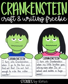 Are you reading Crankenstein by Samantha Berger to your students this year? I have a Crankenstein craft and writing activity that you can use with your students after reading this story. 2nd Grade Writing, 4th Grade Reading, Teaching Writing, Writing Activities, Writing Ideas, Kids Writing, Halloween Writing Prompts, Primary Classroom, Google Classroom