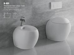 house design idea of Modern Design Two Part Ceramic Toilet With Concealed Tank B, and interior design about Modern Design Two Part Ceramic Toilet With Concealed Tank B