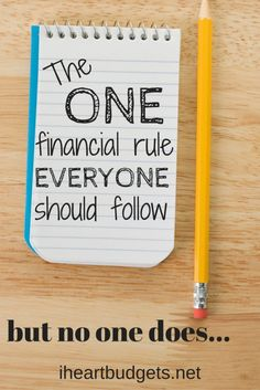 The #1 Financial Rule Everyone Should Follow, But Nobody Does It's simple. But it's not easy. #save #money
