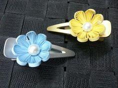 Combed flower on a slide clip