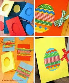 Cute idea for making Easter cards in the classroom! Easter Arts And Crafts, Xmas Crafts, Paper Crafts, Tarjetas Diy, Crafts For Seniors, Easter Activities, Diy Cards, Art For Kids, Card Making