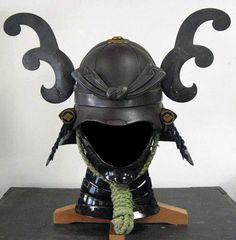 Random Sources Of Inspiration: Samurai Helmets Samurai Helmet, Samurai Armor, Japanese Warrior, Japanese Sword, Japanese Design, Japanese Art, Samourai Tattoo, Armor Clothing, Asian Art