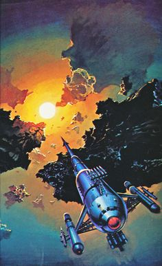 Bruce Pennington - Pirates of the Asteroids from the book The Flights of Icarus (1977) by Donald Lehmkuhl with Martyn and Roger Dean