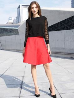 Black Long Sleeve Round Neck Fashion Shirt - New In,$29.00.Click for more.