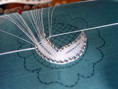 Esecuzione 1^ parte           Solitamente durante il fine settimana si ha più tempo, se poi minaccia pioggia o è brutto, ecco che si riv... Bobbin Lace Patterns, Lacemaking, Diy And Crafts, Crochet, Inspiration, Videos, Bobbin Lace, Pink, Turquoise