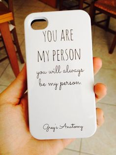 Grey's anatomy R.P Derek Shepard Grey's Anatomy, Diy Phone Case, Iphone Cases, You Are My Person, Grey Anatomy Quotes, Meredith Grey, Cute Cases, Beautiful Day, Just In Case