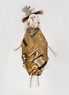 Paper Sculptural Spirit Dolls by Barbara Bussolari